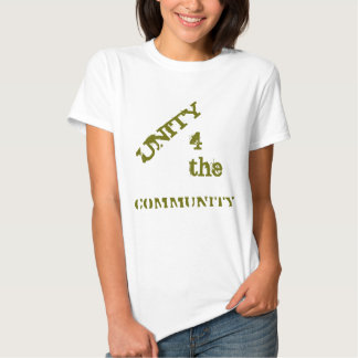 Community Slogan - Unity 4 the community T-Shirt