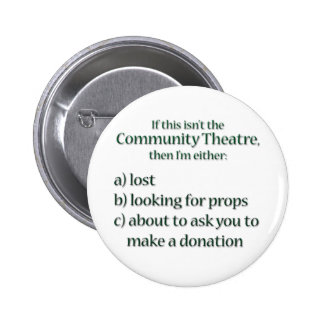 Community Theater Fundraising 6 Cm Round Badge