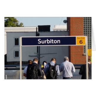 Commuting from Surbiton Greeting Card