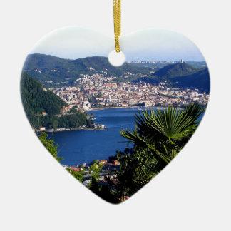Como Lake 2 Ceramic Heart Decoration