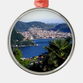 Como Lake 2 Silver-Colored Round Decoration