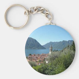 Como Lake Basic Round Button Key Ring