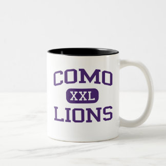 Como - Lions - Como High School - Fort Worth Texas Two-Tone Mug