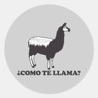 Como Te Llama Classic Round Sticker