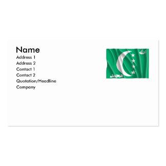 COMOROS BUSINESS CARD TEMPLATE