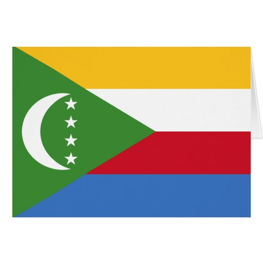 comoros greeting card