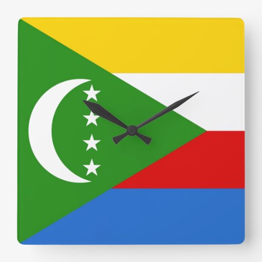 COMOROS SQUARE WALL CLOCK