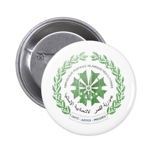 Comoros Coat Of Arms Button