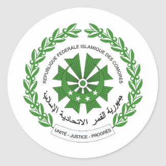 Comoros Coat of arms KM Classic Round Sticker