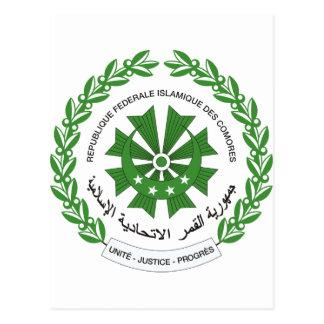 Comoros Coat of arms KM Postcard