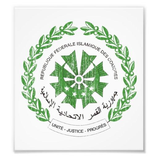 Comoros Coat Of Arms Photo Print