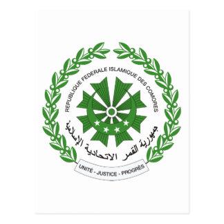 Comoros Coat Of Arms Postcard