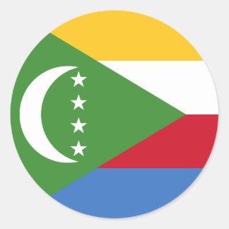 Comoros/Comoran Flag Round Sticker