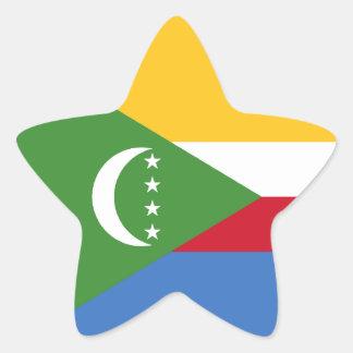 Comoros/Comoran Flag Star Sticker