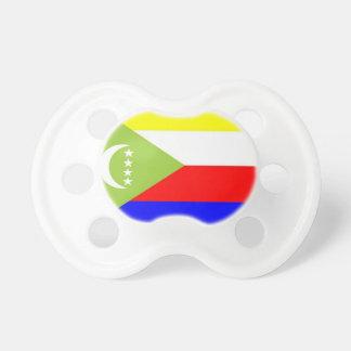 Comoros Flag Baby Pacifier