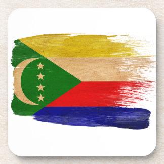 Comoros Flag Beverage Coasters