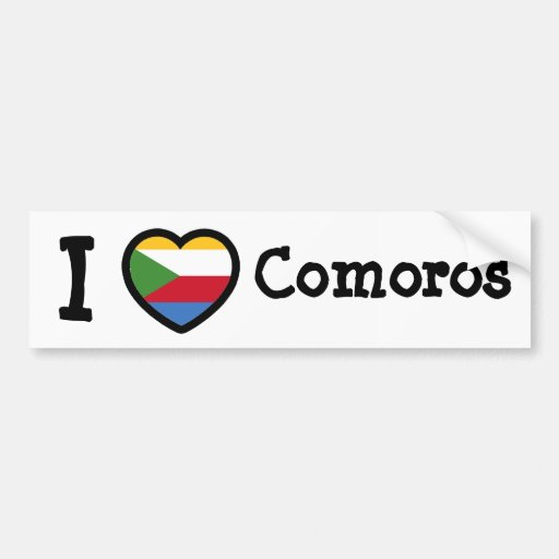 Comoros Flag Bumper Sticker