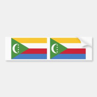 Comoros Flag Bumper Sticker