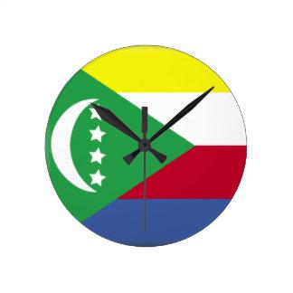 Comoros Flag Wallclock