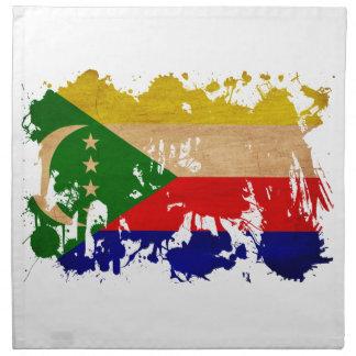 Comoros Flag Cloth Napkins