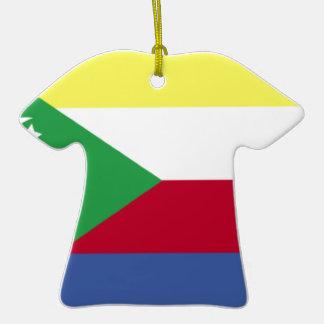 Comoros Flag Christmas Ornament
