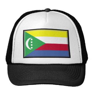 Comoros Flag Mesh Hats