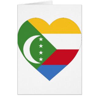 Comoros Flag Heart Greeting Card