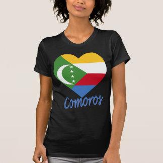 Comoros Flag Heart Tshirt