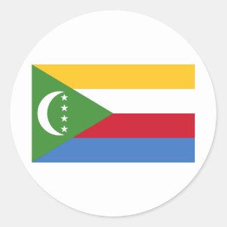 Comoros flag KM Classic Round Sticker