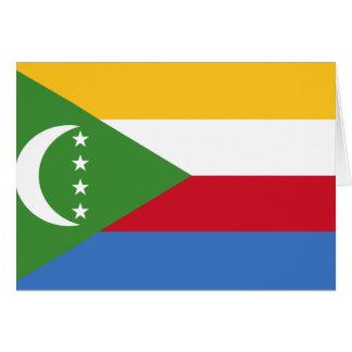 Comoros flag KM Greeting Card
