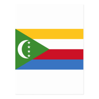 Comoros flag KM Postcard