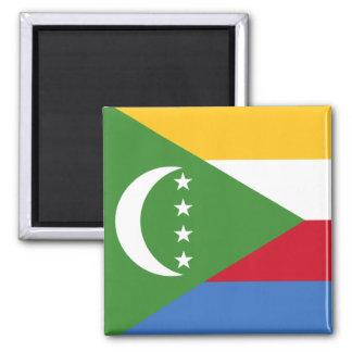 Comoros flag KM Square Magnet