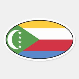 Comoros Flag Oval Sticker