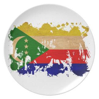 Comoros Flag Party Plates