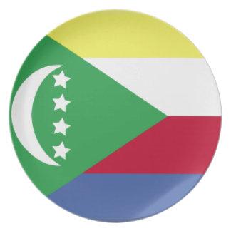 Comoros Flag Dinner Plate