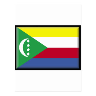 Comoros Flag Post Card