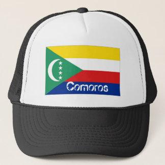 Comoros flag trucker mesh souvenir hat