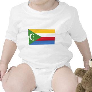 Comoros Flag Baby Bodysuits
