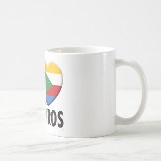 Comoros Love Coffee Mugs