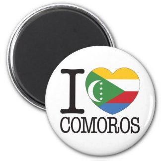 Comoros Love v2 6 Cm Round Magnet