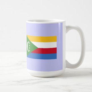 Comoros map & flag mugs