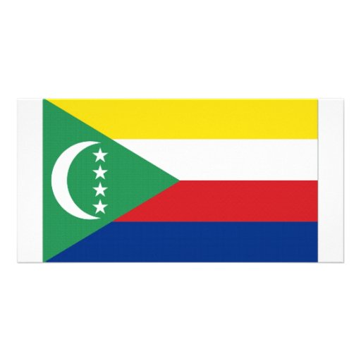 Comoros National Flag Photo Card Template