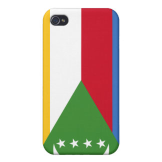 Comoros National Nation Flag  Cover For iPhone 4