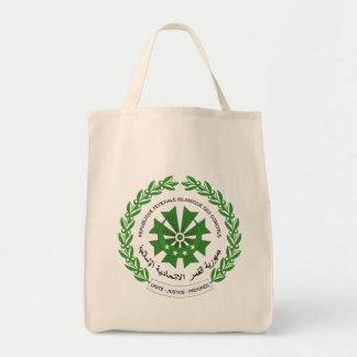comoros seal grocery tote bag