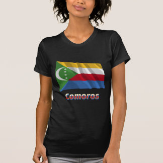 Comoros Waving Flag with Name Tee Shirt