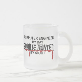 Comp Eng Zombie Hunter Frosted Glass Mug