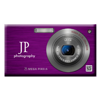 Compact Camera Professional Photographer QR Code Pack Of Standard Business Cards