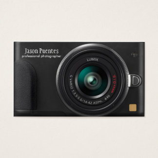 Compact Digital Camera Photographer Business Card