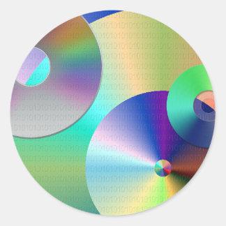 Compact Discs Classic Round Sticker