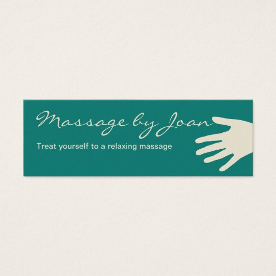 Compact Massage Business Cards